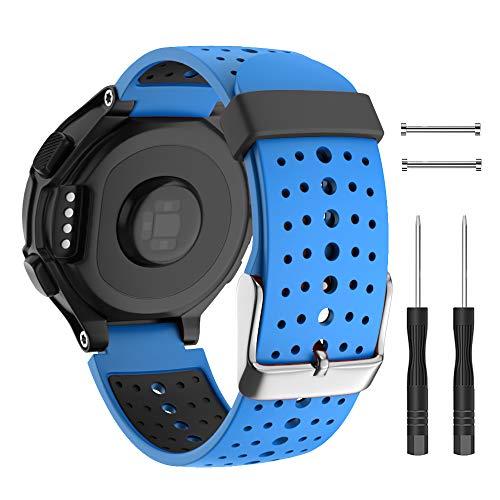 Isabake Correa para Garmin Forerunner 735XT 235 230 220 620 630 Accesorios, Correa de Repuesto de Silicona Suave para Garmin 235/230/620/630/35XT (Azul)