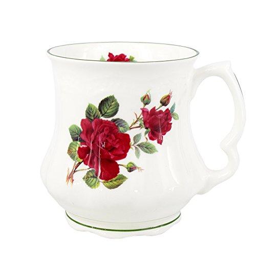 David Michael - Großmutter Große Kaffee-Tee-Becher mit Blumenmotiv bedruckt - Rose 400ml