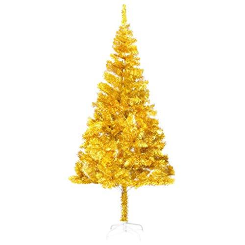 Cikonielf - Árbol de Navidad artificial (180 cm), diseño de árbol de Navidad con soporte