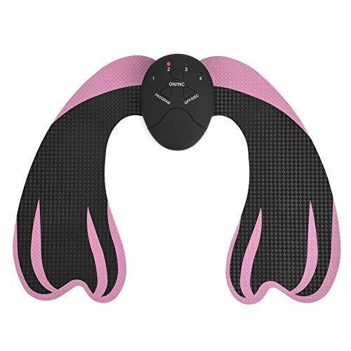 EMS Muskelstimulator, Gesäßtrainer Hüften Lifting Muscle Toner Intelligente Schlankheitsmaschine Ab Workout Equipment Body Shaper für Männer und Frauen Home Office(Schwarz + Pink)