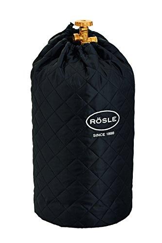 RÖSLE Abdeckhaube für Gasflasche mit 5 kg Füllgewicht, Hochwertige Schutzhülle aus 100% Polyester, mit praktischem Klettverschluss und Zugband