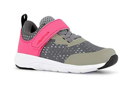 alpina Mädchen Sneaker, Freizeitschuhe, Wanderschuhe, sehr leicht, pink/grau (35)
