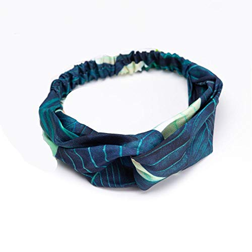 Haarschmuck Kreuzknoten Stirnbänder Blumendruck Elastische Haarbänder Krawatten Schal Band Kopfbedeckung Haarschmuck Kopfwickel