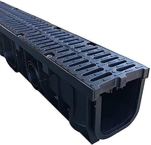Entwässerungsrinne mit Gußrostoptikdesign (rostfrei) Rost LKW befahrbar Klasse B 125, Rost 8-fach gesichert