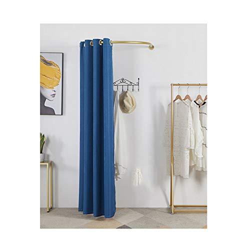 LJIANW Vestuario Portátil, Móvil Probador Tu Tipo Pared Vestuario, Ahorra Espacio, Sombreado Protección De La Privacidad para Tienda De Ropa Habitación (Color : Blue, Size : 90X90X200CM)