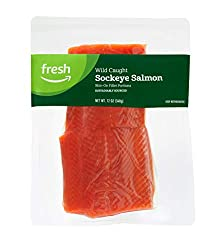 Fresh Brand – Wild Caught Sockeye Salmon Fillet Portions, 12 oz