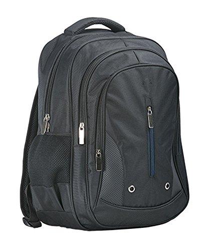 sUw - Robust Triple Zipped Pocket Backpack (35 Litre) - Black - Regular