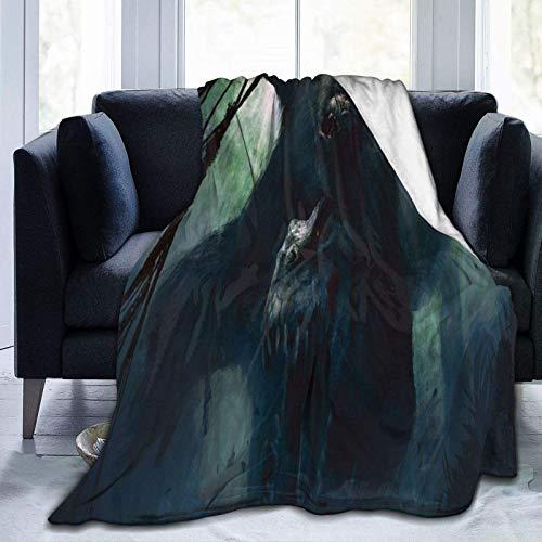 N \ A Manta de microforro polar ultrasuave, con alas, decoración del hogar, cálida manta para sofá cama, 20 x 60 pulgadas