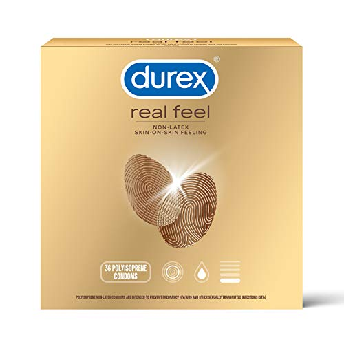 Condoms for Sex, Non Latex Durex Avanti Bare Real Feel Lubricated Condoms, 36 Count, Non Latex Condoms for Men with Natural Skin on Skin Feeling, FSA and HSA Eligible