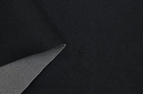Car Interior Fabrics SAM03 - Forro para techo de coche (velvetón, espuma de poliuretano laminada), color negro