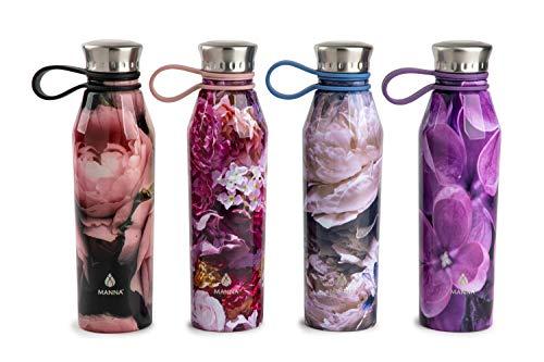 Manna Haute Edelstahl-Doppelwandige vakuumisolierte Trinkflasche mit 18 oz Fassungsvermögen, kein Schweiß, BPA-frei, hält Getränke 12 Stunden warm und 24 Stunden kalt. Weiß