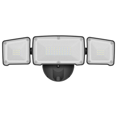 LEPOWER 3500LM LED Flood Light Outdoor, 35W Super Bright Outdoor Flood Light Fixture with 3 Adjustable Head, Switch Controlled LED Security Light, 5500K, ETL Listed, IP65 Waterproof for Garage, Yard