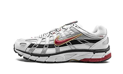 Nike W P-6000, Zapatillas para Correr Mujer, White/Varsity Red/Mtlc Platinum, 35.5 EU