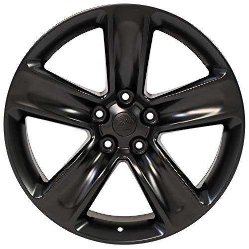 """Partsynergy Replacement For 20"""" Rim Fits 1999-2018 Jeep Grand Cherokee SRT Style Satin Black 20x9 Wheel"""
