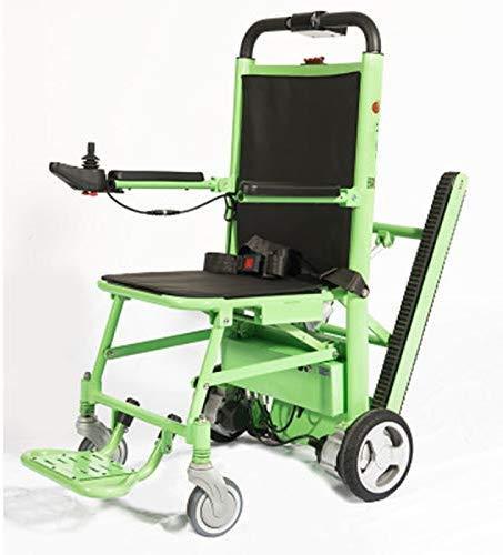 Silla de ruedas eléctrica plegable de alta calidad, capacidad de carga: 440 lb. Green