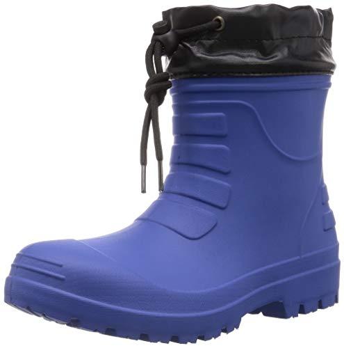 [コーコス信岡] 作業長靴 レインブーツ 超軽量 ショート丈 ハイブリッドEVA 男女兼用 ジプロア ブルー 26.5~27.0 cm 3E