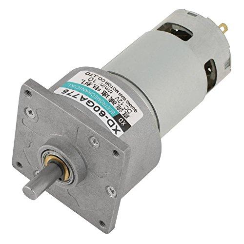 Motor de engranaje Mini DC 12 V/24 V 35 W de velocidad ajustable de metal CW/CCW (12 V 10 rpm)