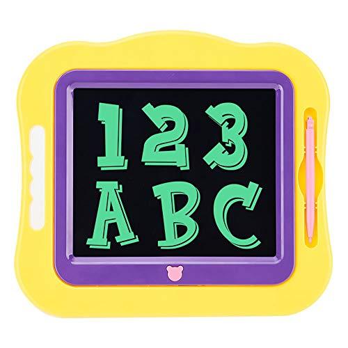 KDXBCAYKI Tablet LCD da 7,5 pollici Nuovo cartone colorato Pittura creativa Graffiti Lavagna Tavoletta for bambini Lavagna Lavagna Boogie Board (Colore : Yellow)