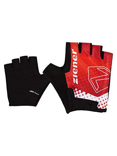 Ziener Jungen Curto Fahrrad, Mountainbike, Radsport-Handschuhe | Kurzfinger-Atmungsaktiv/dämpfend, New red, M