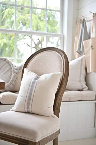 Funda de almohada para sofá cama para mamá y papá, funda de almohada de 3 rayas de grano azul, 100% algodón orgánico, decoración del hogar, regalo de inauguración de la casa para café y té