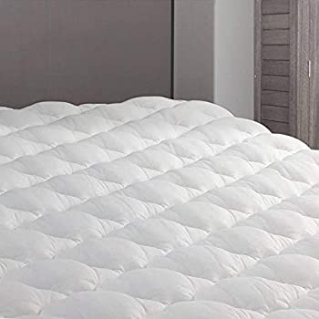 eLuxurySupply RV Mattress Topper Short Queen - Extra Plush Pad with Fitted Skirt - Found in Marriott Hotels - Mattress Cover for RV Camper