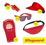 TK Gruppe Timo Klingler Lifeguard Set Fasching Kostüm Karneval Verkleidung Rettungschwimmer...