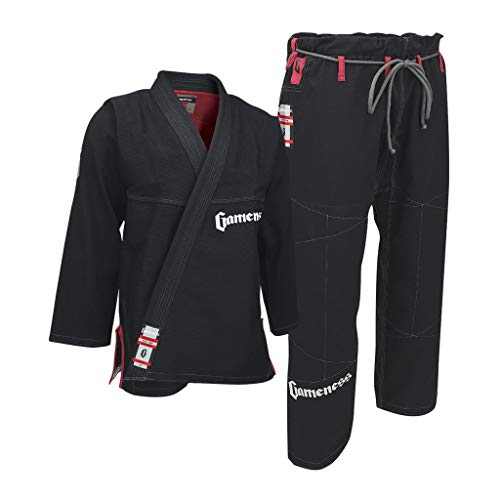 Gameness Mujeres Pearl Gi V2 BJJ Jiu-Jitsu Traje MMA Combate Combate Grappling Uniforme F1 Negro