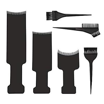 6pcs Balayage Board and Brush Kit, 3pcs Balayage Highlighting Board with Teeth and 3pcs Hair Coloring Brush Flat Top Comb Board Balayage Paddle for Hair Coloring Dyeing DIY Hairdressing Tint Tool