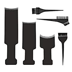 Package: The package include 3pcs different size balayage highlighting board and 3pcs different hair coloring brushes Size: 3 Different sizes of balayage board, big: 35 x 8.2 cm, middle: 26.5 x 8.2 cm, small: 19 x 9.5 cm, 3pcs hair coloring brushes a...