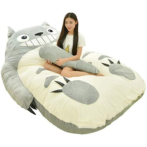 AFKK Lazy Sofa Single Double Tatami Cartoons Totoro Mattress Lovely Bedroom Bed Lazy Bed,120 * 80 cm