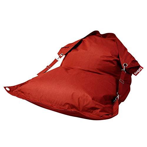 Fatboy® Buggle-Up Outdoor rot   Acrylgewebe-Sitzsack für draußen   Loungesessel im Outdoor-Bereich   185 x 132 cm