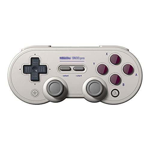 Controlador de Interruptor inalámbrico, Retro 30pro Bluetooth Gamepad, Mac Computer Steam Gamepad Ratón, NS Vibración Ráfaga Somatosensorial (Color : Gray, Size : 14.5 * 7.5 * 4cm)