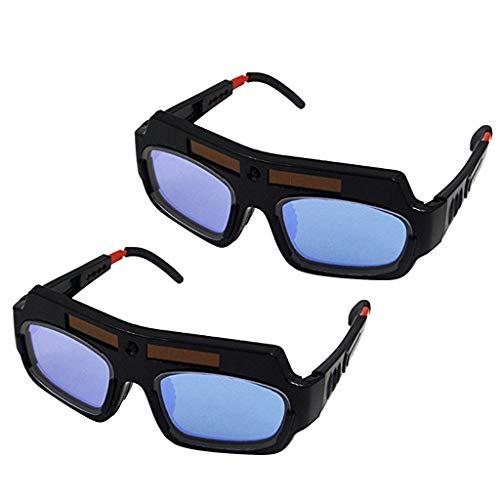 P Prettyia 2 Pares/Juego DIN3 / 11 Gafas de Soldar con Oscurecimiento Automático con Energía Solar