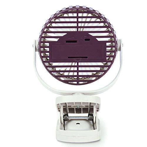 WZLJW Mini USB Clip Clip de Carga compartida Ventilador Especial Pequeño Ventilador for el Carro de bebé, 360 Portable Ajustable del Ventilador de refrigeración. DCZKS (Color : Snow Purple)