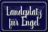 Cartel de metal de 20 x 30 cm para el ángel con texto en alemán