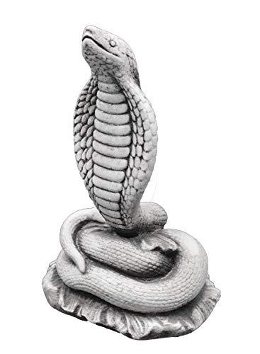gartendekoparadies.de Massive Steinfigur Schlange Klapperschlange aus Steinguss frostfest