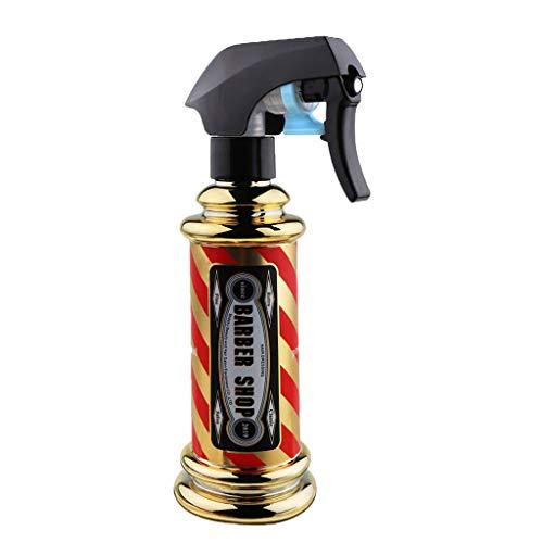 Sprühflasche Golden Streifen Friseur Sprühflasche 150ML Friseur Streifensprühflasche Salon Barber Hair Tools Wassersprühgerät