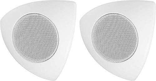 MONACOR MKS-48/WS Eck Wand- und Deckenlautsprecher/Boxen/Speaker 30W Weiss