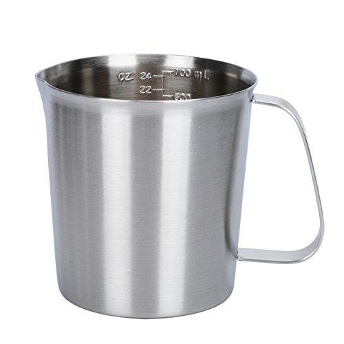 Holfcitylf Stainless Steel Milk Frothing Pitcher Jug Coffee Foam Measurement Markings in both oz and ml 17oz / 24oz / 34oz / 51oz / 68oz