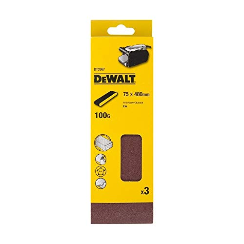 DeWalt DT3367-QZ Schleifband 75x480 K100 (3 Stk.)