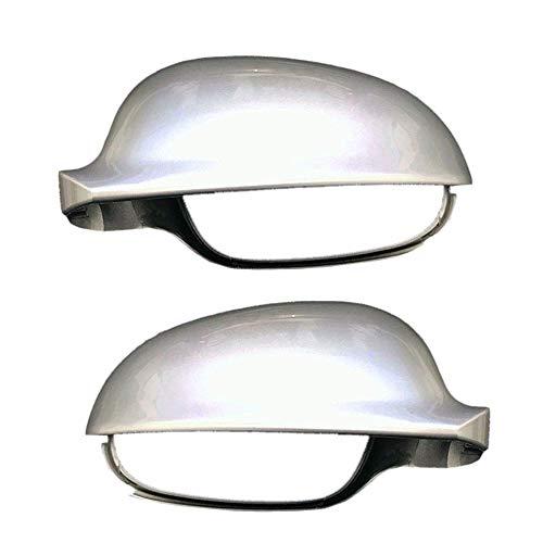 Spiegelabdeckungsgehäuse passend für V-W Golf 5 Passat B6 (Freie Wahl der Menge) (Silber-Grau, Links und Rechts (2 Stück))