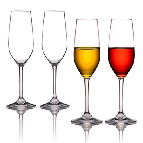NGHSDO Copas De Vino Copas de champán Creativas Wineware Gafas de Vino Tinto de Alta Gama Gafas de plástico 1 (Color : 4pcs)
