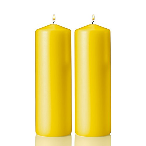 Light in the Dark 2 Yellow Citronella Scented Pillar Candle 9 Inch Tall X 3 Inch Wide
