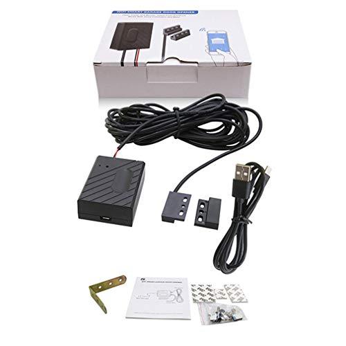 bansd Interruptor de Puerta de Garaje Inteligente WiFi Aplicación de Encendido/Apagado Remoto y Control de Voz Negro
