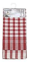 Soleil d'ocre Lote de 2 paños de Cocina de algodón Vichy Rojo, Jacquard 50 x 70 cm