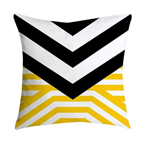 VRTUR- Funda de cojín de piña Amarilla con diseño de Hojas de Desierto para sofá, Coche, Cintura, Juegos, decoración del hogar, Tela Super Suave, Multi-e, 45 x 45cm