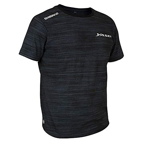 SHIMANO Apparel Yasei T-Shirt XXL Grey-Black - SHYASTSHXXL
