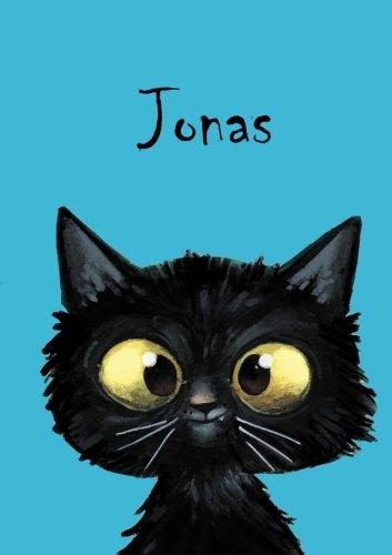 Jonas: Jonas - Katzen-Malbuch / Notizbuch / Tagebuch - A5 - blanko