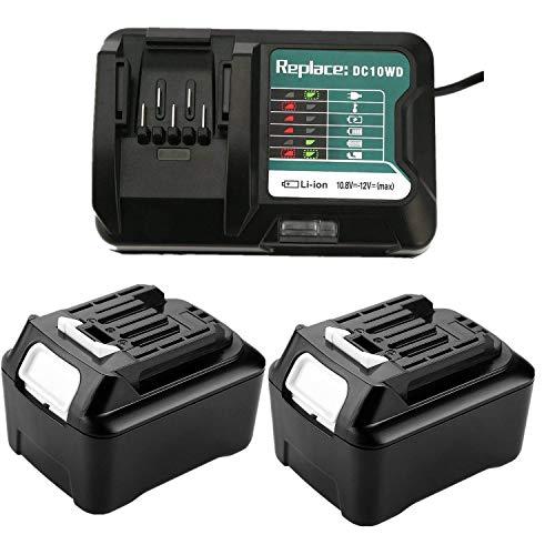 Cargador de repuesto DC10WD y 2 baterías de litio BL1041B de 12V y 4,0 A para herramientas Makita BL1040 BL1040B BL1015 BL1020B