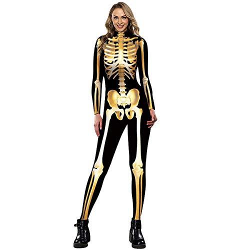 Neusky Disfraz de esqueleto para mujer (M, oro 2020)